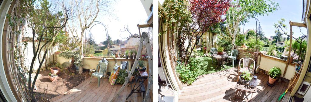 Petit jardin - avant/après